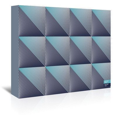 Americanflat Triangles 3 by Armand Graphic Art on Wrapped Canvas Size: