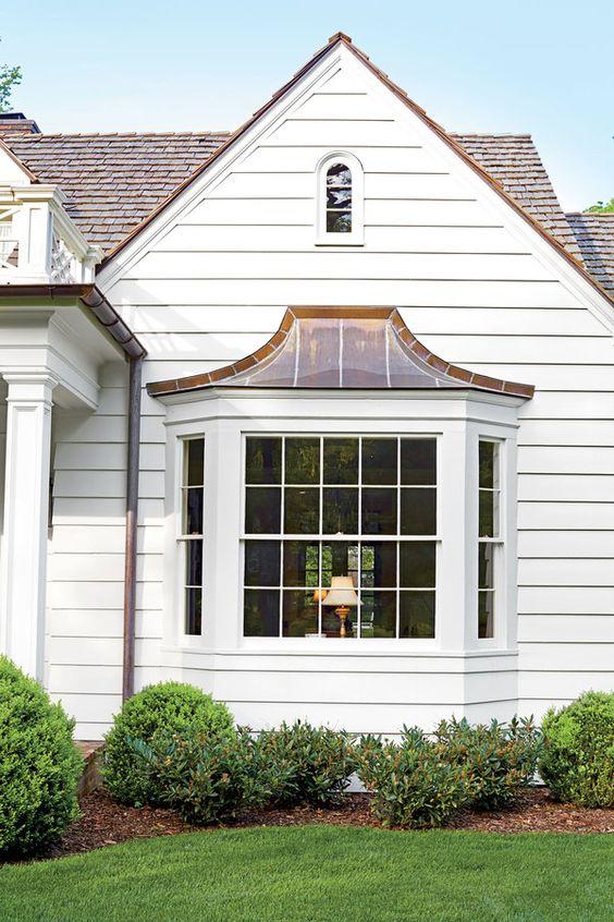 Exterior Makeover Bay Windows And Asphalt Shingles On