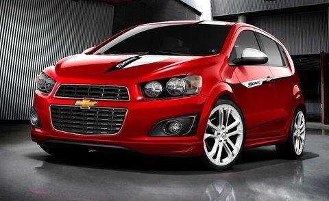 Four Chevrolet Sonics Prepped For 2011 Sema Show Chevrolet Sonic Chevrolet Chevy Sonic