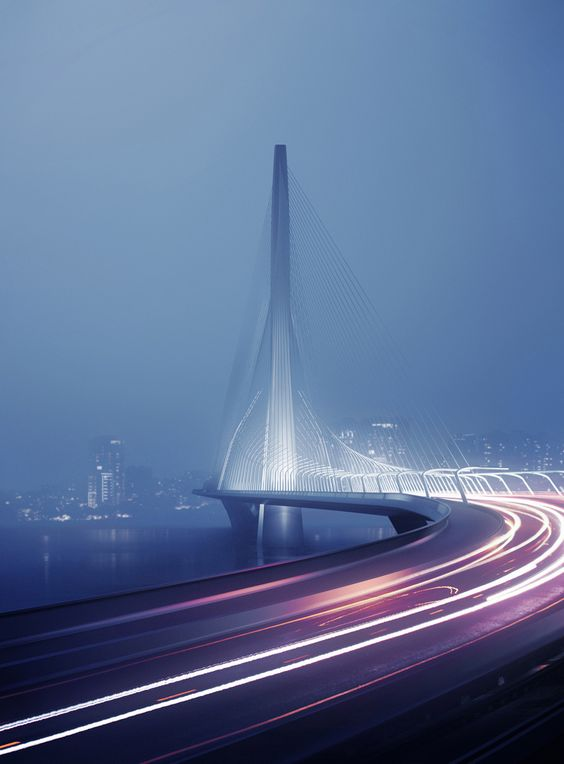 Zaha Hadid Architects Win Danjiang Bridge Competition in Taiwan,© Danjiang Bridge by Zaha Hadid Architects, render by MIR