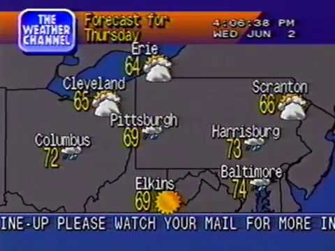 The Weather Channel Local Forecast: 6-2-1993 - YouTube | Pittsburgh
