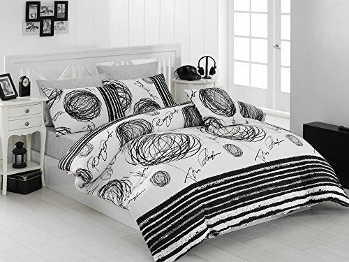 Dose Of Modern New Blacky Super King Quilt Cover Set Us Es 164nzq48222 Black White Duvet Cover Sets Duvet Covers Duvet