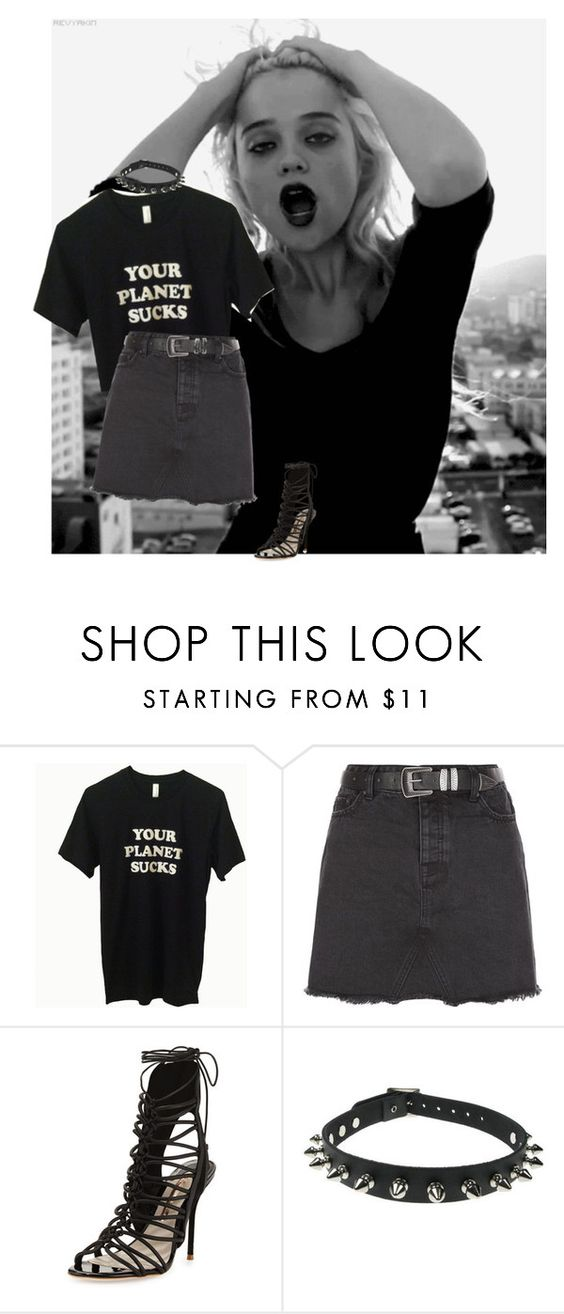 """""""Untitled #458"""" by witchblood ❤ liked on Polyvore featuring New Look and Sophia Webster"""