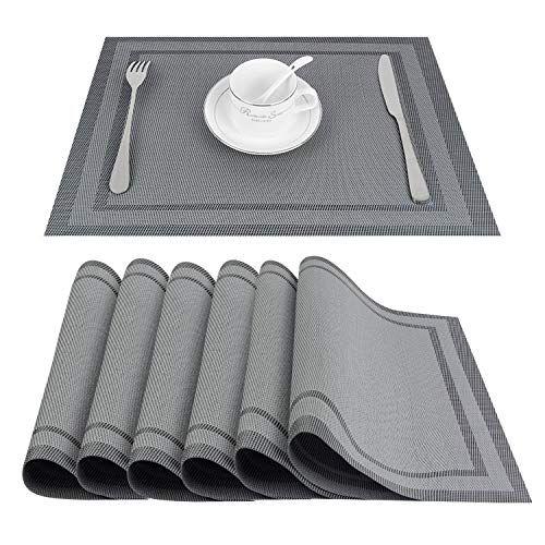 Top Finel Placemats Vinyl Table Mats Set Of 6 Heat Resist Https Www Amazon Com Dp B07j4y6j4b Ref Cm Sw R Pi Dp U X P 20cbrt9d63 Placemats Table Mats Vinyl