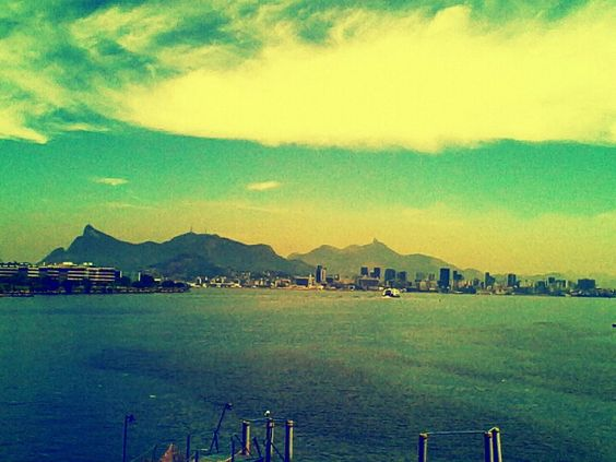 A vista de niteroi para o Rio de janeiro