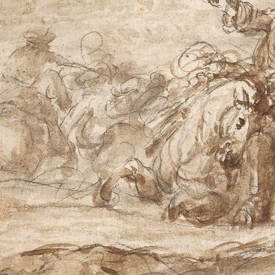 Francesco Antonio Simonini, Matita nera e inchiostro bruno disteso a pennello, Figure - master-drawings.com