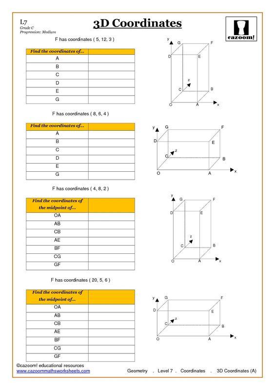 Geometry Coordinate Worksheet ks4 and ks3 – Coordinate Geometry Worksheets