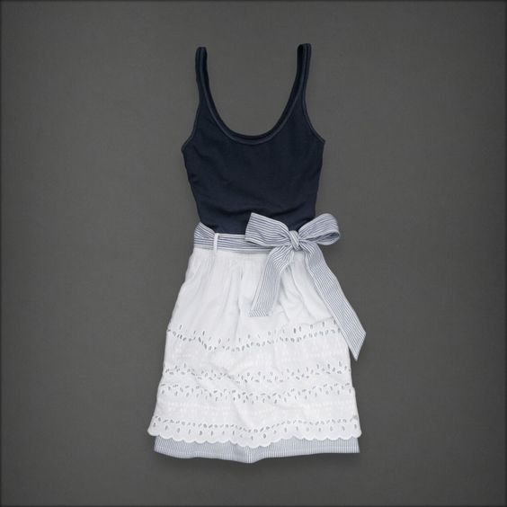 Cute and simple. I feel like I could sew this out of ugly thrift store clothes :) Challenge accepted!