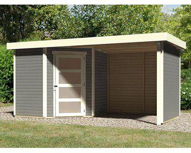 Karibu Holz Gartenhaus Linkobing 3 Terragrau Bxt 433x213 Davon 224 Cm Anbaudach Kaufen Bei Obi Gartenhaus Flachdach Gartenhaus Haus