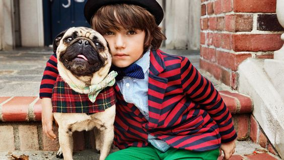 Beautiful Pug featured in the new H Kids campaign...