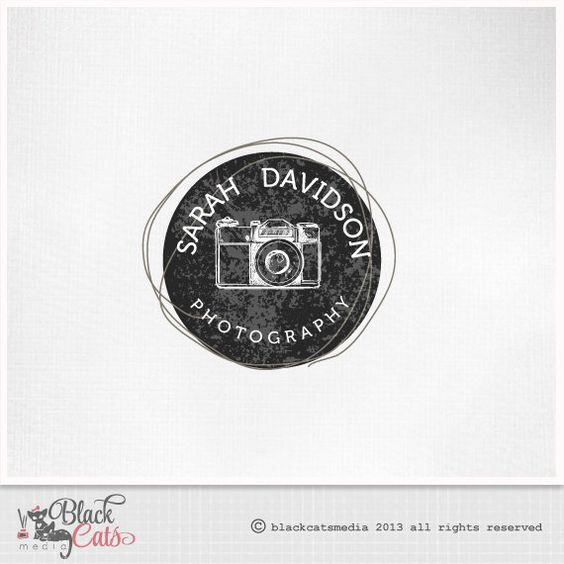Photography  Logo Design photo camera  Eps file included Etsy Banner avatar and matching business card - premade logo on Etsy, $17.00