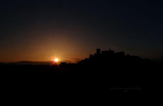 Foto sacada el dia del solsticio de verano en Monforte de Lemos-Galicia.