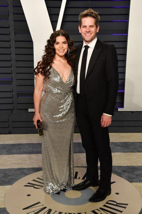 America Ferrera And Husband Ryan Piers Williams Prom Dresses