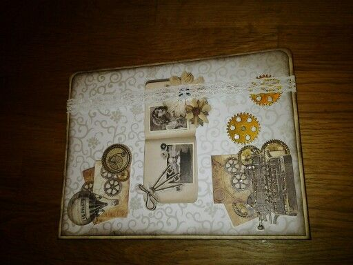 Vintage Notizbuch mit Kalender