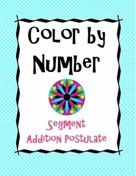 math worksheet : segment addition postulate color by number  color by numbers  : Segment Addition Postulate Worksheet