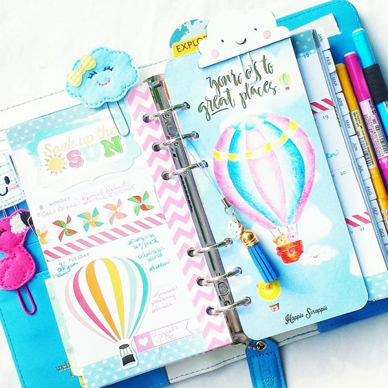 Last week in my Sky Blue Color Crush planner. Used my @happiescrappie kit. I love the tassel and charm! #wpplannerlove #websterspages #colorcrushlove #colorcrush #happiescrappie