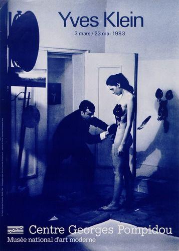 Œuvre reproduite :Yves Klein, Anthropométrie de la période bleue © ADAGP, Paris 1983 ; Photographie : Shunk-Kender © Roy Lichtenstein Foundation © Centre Pompidou, 1983 - Conception graphique : Atelier Philippe Gentil _ #Poster #Affiche #GraphicDesign