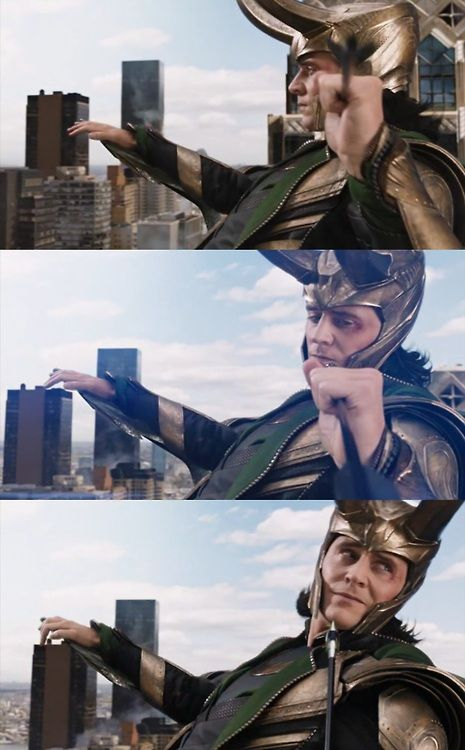 The Avengers, Loki - pities your futile attempts to - BUM! :(
