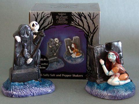 Disney's Nightmare Before Christmas Jack and Sally Salt and Pepper Shakers #barrel #burton #christmas