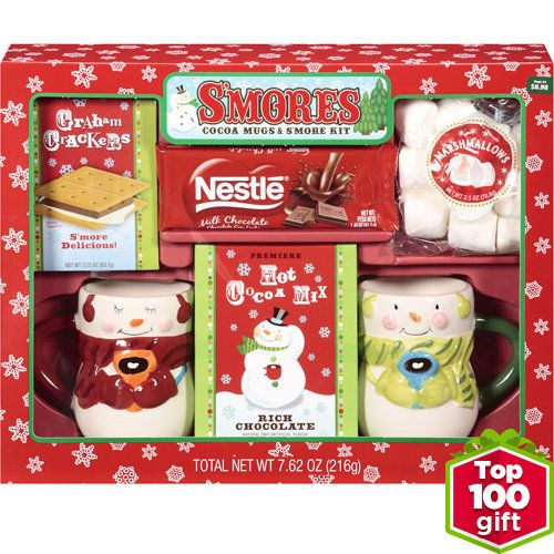 Smores Gift Set With Mugs-Cocoa-$9.98 The Smores Gift Set With Mugs-Cocoa,Kit provides everything that you would need to prepare and enjoy a delightful hot mug of cocoa. This Cocoa Mug Set makes for a wonderful and tasty gift, or you can keep for yourself. The Smores Gift Set comes complete with two mugs, a milk chocolate bar, graham crackers, marshmallows and cocoa mix. http://kittykatkoutique.com/products-all/smores-gift-set-mugs-cocoa-9-98/