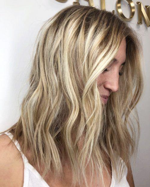 Blonde Medium Hairstyle Thick Hair Styles Medium Length Hair Styles Hair Styles
