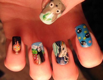 GHIBLI nail :)