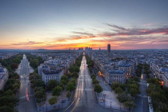 Cidade, paris, França, exposição, hdr Vetor