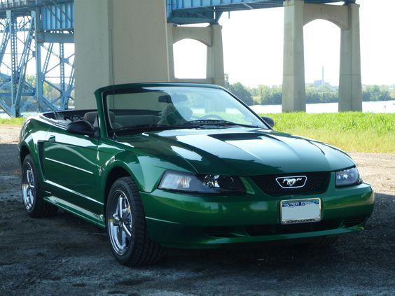 2000 Electric Green Ford Mustang #shadesofgreenmustangregistry