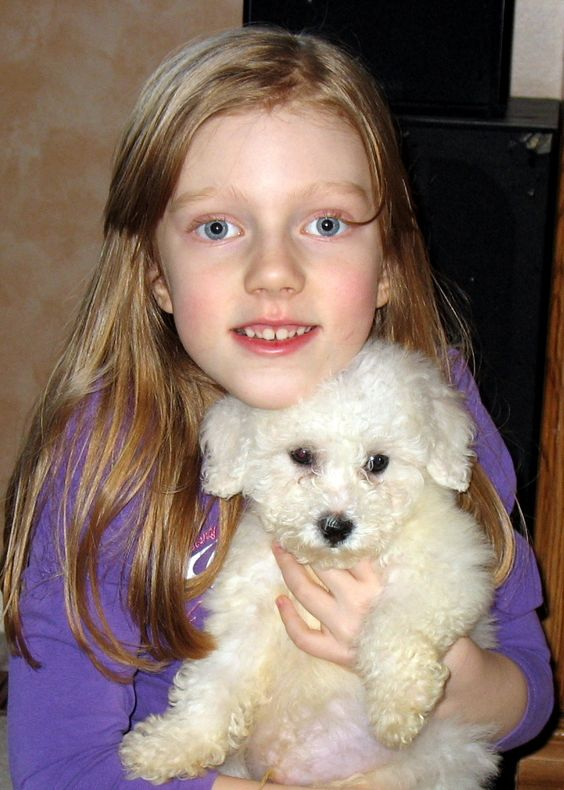 Amelia with her brand new puppy Wilson ~ Jan 2007