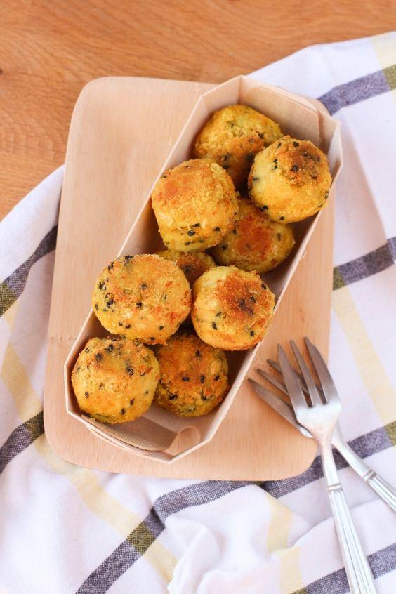 boulettes de haricots blancs au curry VEGAN curry white bean balls (4…