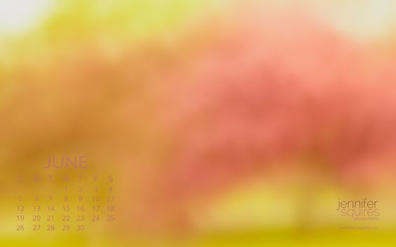 June 2016 calendar featuring an impressionist photograph of a pink flowering tree in spring. Download yours for your desktop wallpaper.
