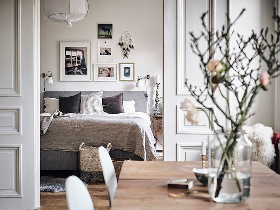 Nordic feeling home interiors scandinavian bedroom for Indie home decor