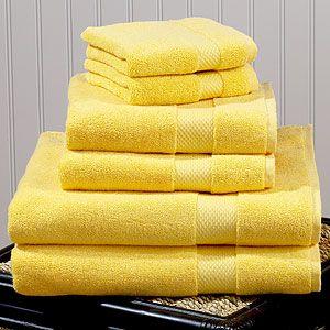 Yellow Turkish Cotton Bath Towels | Bathroom| Bed & Bath | World Market