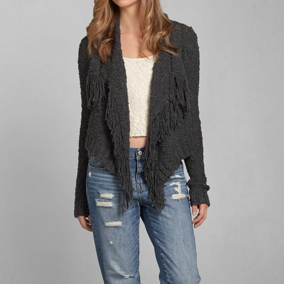 Womens Monica Fringe Coatigan | Womens Exclusives | Abercrombie.com
