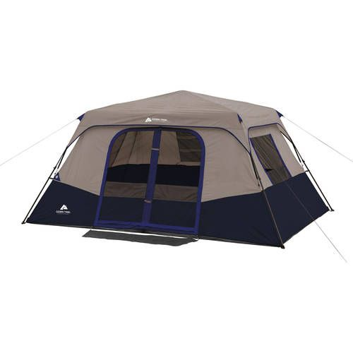 Ozark Trail 8 Person Instant Cabin Tent With Led Lighted Poles And In 2020 Family Tent Camping Cabin Tent Tent