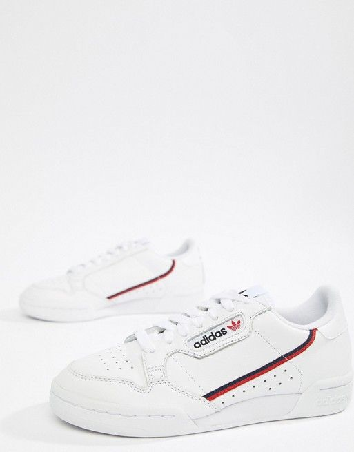 adidas Originals Continental 80's Sneakers In White And Navy ...