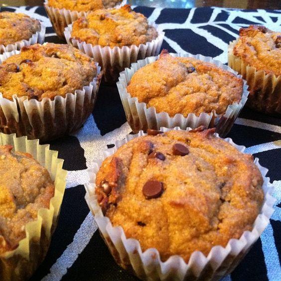 Pumpkin Chocolate Chip Muffins - Grain Free! #PrimalBliss #TheAncestralBody