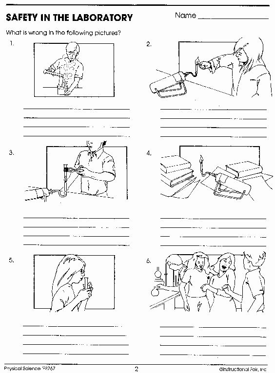 Science Tools Coloring Pages Awesome Science Lab Safety Ics Sketch