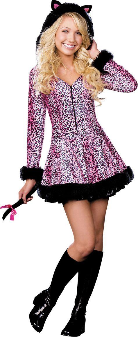 Teen Girls Pretty Lil\' Kitty Cat Costume - Animal Costumes - Teen ...