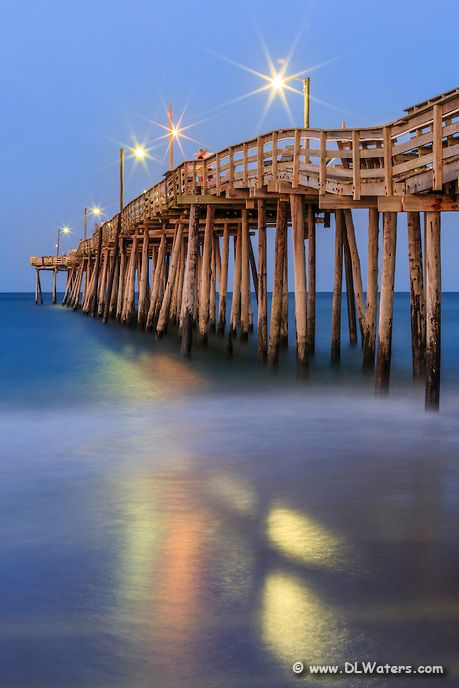 Twilight fishing and the outer banks on pinterest for Nags head fishing pier