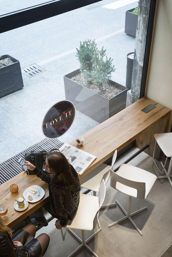 Moderne Küche / Holz / Modul / zur beruflichen Nutzung - 201507_RETAIL_FLAGHSIP STORE MILANO - TM Italia