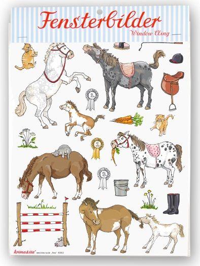 Fensterbilder für kleine Pferde-Liebhaber