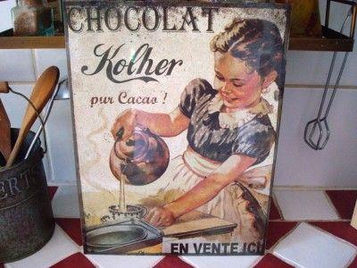Cuisine and m taux on pinterest for Plaque metallique cuisine