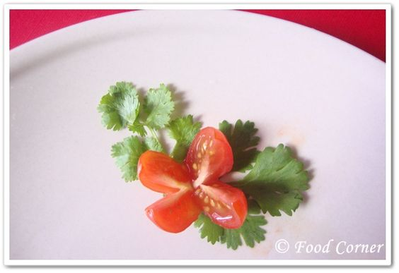 How to Garnish a Plate | ... flowers are easy to prepare it is a very easy simple garnish idea
