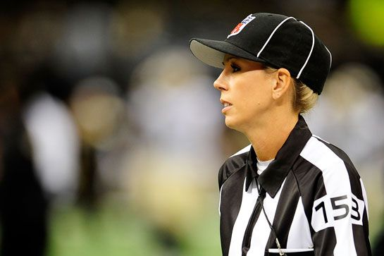 12 Women Who Changed Sports This Year #refinery29  http://www.refinery29.com/2014/09/74662/best-female-athletes-2014#slide8  Sarah Thomas Prepped For The Big Leagues Sarah Thomas has been officiating football games for 17 years at the collegiate level. This year, however, she joined the NFL's Officiating Development Program after a League scout discovered her. She's one of two female members of the program. In 2015, she's expected to become the first female referee in the League. Dean ...