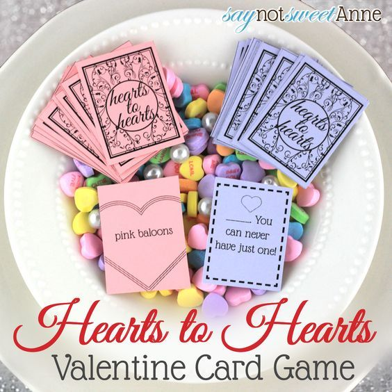 Hearts to Hearts, Printable Card Game! | SayNotSweetAnne.com