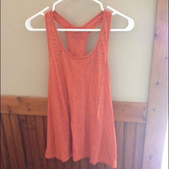 RacerBack Tank Top Burnt orange racer back tank no holes or rips in great condition Mudd Tops Tank Tops