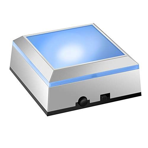 IFOLAINA LED Light Base Display Box Show Stand Square Vas...  https://www.amazon.com/dp/B07CPKCTGZ/ref=cm_sw_r_pi_dp_U_x… | Square vase,  Plate display, Display boxes