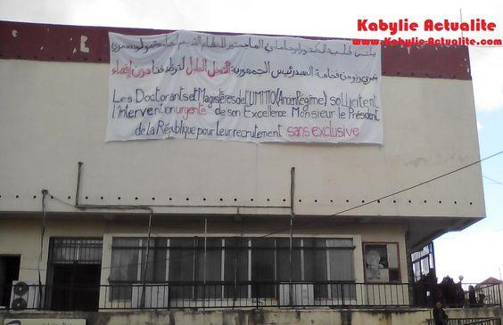 KABYLIE INDEPENDANCE : Scandale à l'UMMTO: Bouteflika au secours de l'uni...