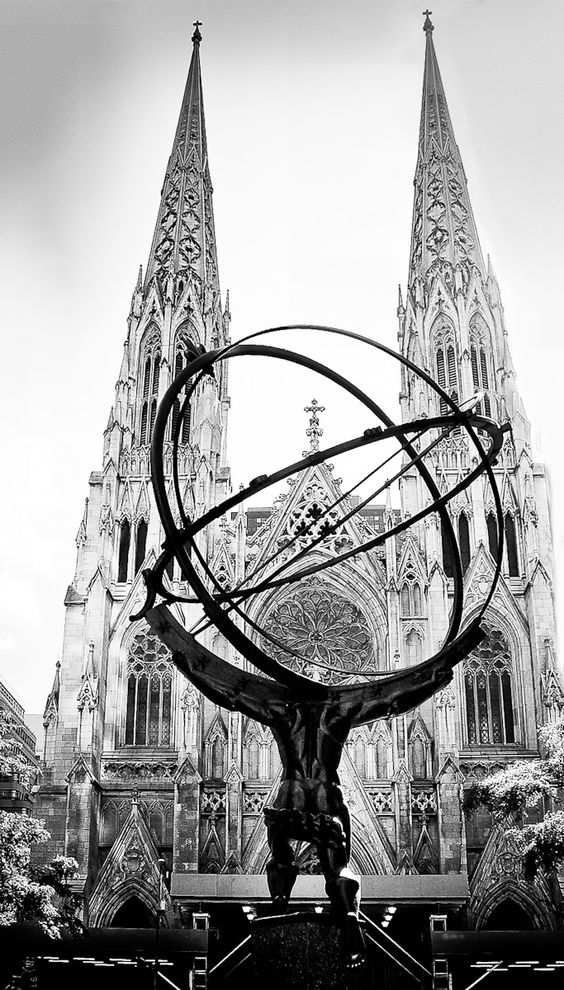 New York - St. Patricks Cathedral Black and white #architecture photographs are sometimes the best. Love this. This reminds me of #Atlas #Shrugged